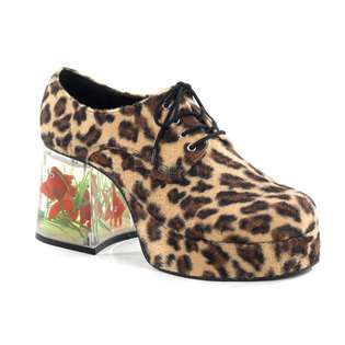 PLEASER Pimp 02 MENS Old School Costume 70s Cheetah Pimp Shoes at