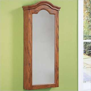 Furniture Antique Oak Wall Jewelry Storage Mirror 081438366357