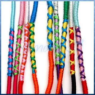 Color Thread Braided FRIENDSHIP Bracelets Hippie Wristband Cuff