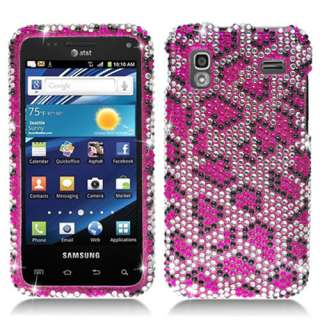 Samsung Captivate Glide i927 AT&T Pink Leopard Bling Hard Case Cover
