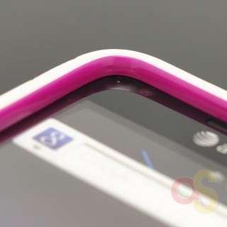 Samsung Galaxy S2 Skyrocket I727 White Purple Hybrid Case Cover+Screen