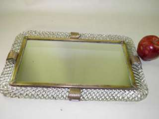 Vintage Venini Murano Art Glass Mirrored Vanity Tray