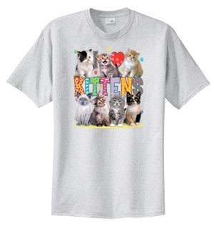 Love Kittens Cat Collage T Shirt  S  6x  Choose Color