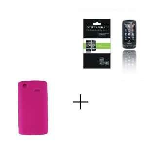com SAMSUNG CAPTIVATE I897 Hot Pink Clear Gel Soft Skin Case + Screen