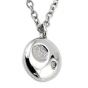 Circle Pendant with CZ on 17 Inch Link Chain West Coast Jewelry