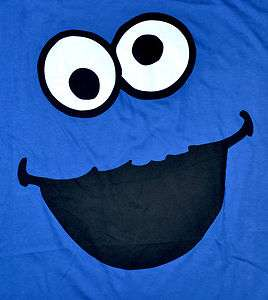 Monster Mens Sesame Street T Shirt Graphic Tee Dark Blue NWT
