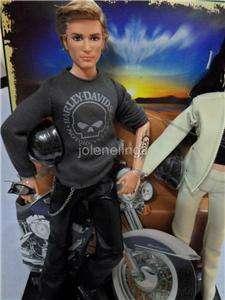 Mattel Barbie Ken Harley Davidson Motor cycles Pink NEW GIft set Doll