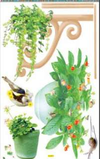 Removable WALL STICKER Home Decoration INDOOR PLANTS