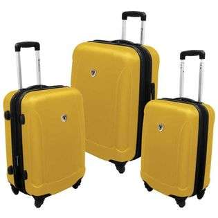 Travelers Choice TC3100Y 3 Piece Auckland Expandable Hardshell Spinner