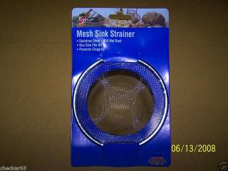 SINK STRAINER METAL LARGE STAINLESS STEEL NEW NOC