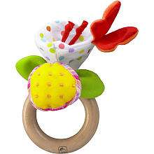 Eco Friendly Flower Ring Rattle   Wonderworld   Toys R Us