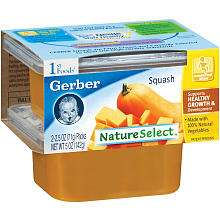 Gerber 2 Pack 1st Foods Baby Food 2.5 oz.   Squash   Gerber Foods