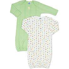 Gerber 2 Pack Cotton Gown   Green   Gerber Childrenswear   Babies R