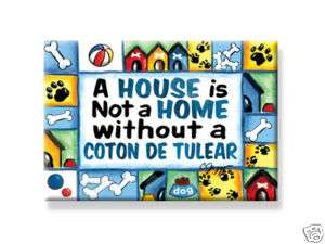 Coton de Tulear DOG Magnet Over 1000 designs available