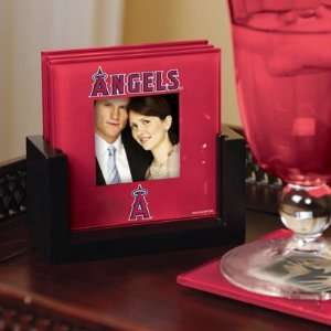 Los Angeles Angels Art Glass Photo Coaster Set: Kitchen
