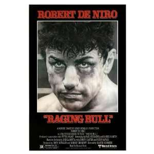 Movie Posers 26.5W by 39.75H  Raging Bull CANVAS Edge