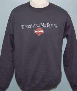 Harley Davidson Mens No Rules Pullover Black Crew Sweatshirt