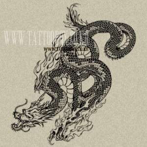 Temporary Tattoo   Dragon 3   LARGE SIZE