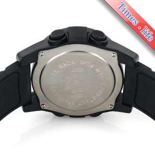 Full BLACK Rubber Watch Sports Mens Boys Digital Dial Quartz Gift