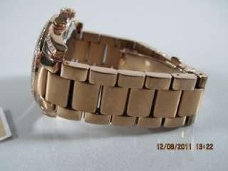 Michael Kors MK 5263 Womens Rose Goldtone Stainless Steel Crystal