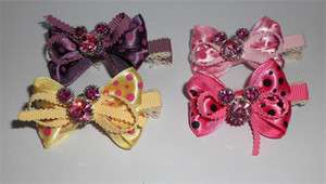 NEW Disney Mickey Mouse Rhinestone Ribbon hairpin stick combs Barrette