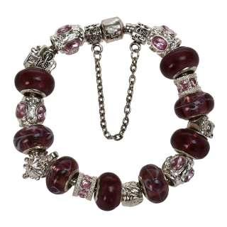 lampwork glass crystal European bracelet beads charms Jewelry