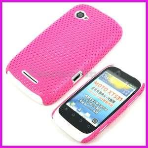 Hot Pink Mesh Back Cover Case for Motorola Fire XT XT531