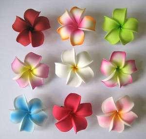 Set of 9 ~ Hawaiian Hawaii Bridal Wedding Party Plumeria Foam Flower