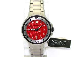 Movado 2600008 Mens 800 Series Stainless Steel Watch