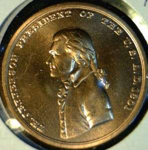 Thomas Jefferson US MINT INAUGURATED Commemorative Bronze Medal