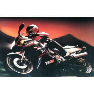 KAWASAKI Mint Sealed Skateboard NINJA 750R MOTORCYCLE Poster (Large