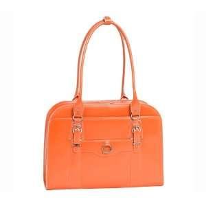 McKlein Hillside Leather 15.4 Laptop Tote   Orange