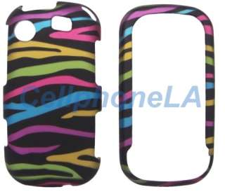 Samsung Messenger Touch R630 Rainbow Zebra Case Cover