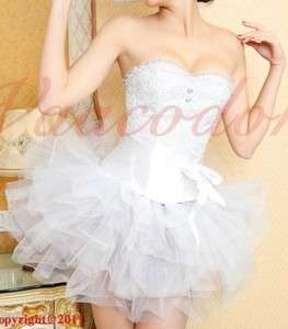 Bridal Angel Costume corset petticoat tutu skirt 6 16