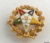 EASTERN STAR   14k Yellow Gold Masonic OES Member Vintage Pin
