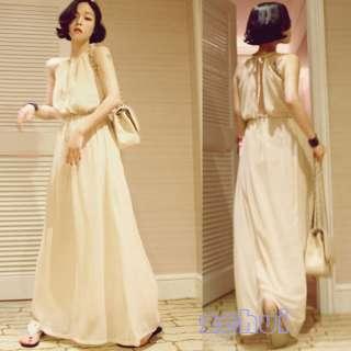 Bohemian Fashion Holiday Leisure Women Skirt Full Length Pendant Dress