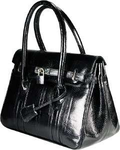 WOMENS GENUINE BLACK SNAKE LEATHER BAG PURSE BSN295 SNAKE SKIN HANDBAG