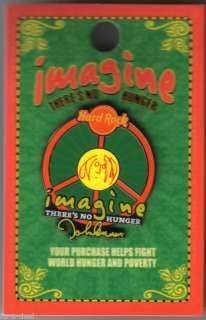 2010 Hard Rock #3 WHY John Lennon IMAGINE No Hunger Pin