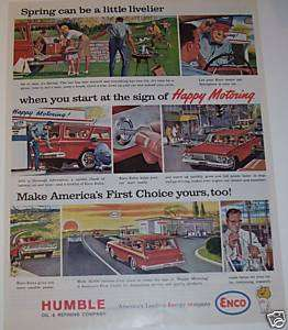 1963 HUMBLE OIL AND REFINING COMPANY ENCO GASOLINE AD. |