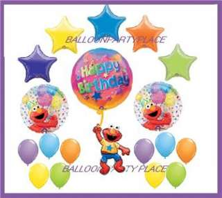 SESAME STREET elmo birthday party supplies MEGA KIT 18 BALLOONS polka