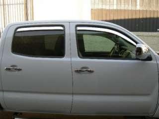 2002 2008 DODGE RAM QUAD CAB CHROME WINDOW VENT VISOR