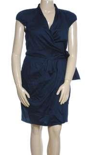 NEW Anne Klein Cap Sleeve Wrap Dress Sz 14 $139