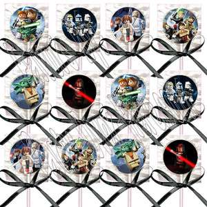Star Wars Kid Video Game Lollipops Suckers with Black Ribbon Bows