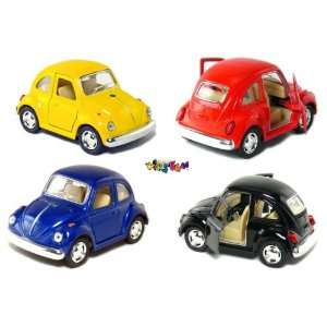 Beetle, Pull Back Action (Black/Blue/Red/Yellow) Toys & Games