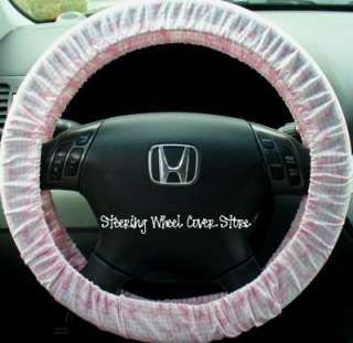 Car Steering Wheel Cover Pink Breast Cancer Ribbon NEW