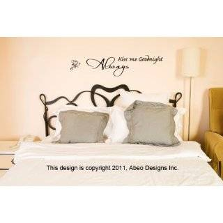 Always Kiss Me Goodnight 36 x 12 or 51 x 11 inches. Wall Decal Sticker