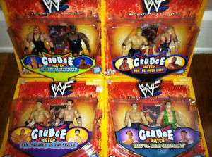 WWE WWF JAKKS GRUDGE MATCH SET TRIPLE H VADER OWEN HART