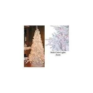 7.5 White Slim Siberian Fir Pre Lit Artificial Christmas