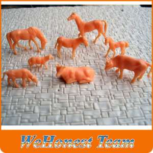 40 pcs HO gauge UnPainted farm animals