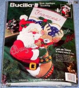 Bucilla SANTA AND RUDOLPH Felt Christmas Stocking Kit